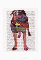 Staffordshire Bull Terrier - Patchwork Fine-Art Print