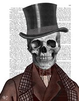 Skeleton Gentleman and Top hat Fine-Art Print