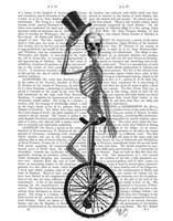 Skeleton on Unicycle Fine-Art Print