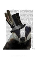 Steampunk Badger in Top Hat Fine-Art Print