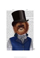 Orangutan in Top Hat Fine-Art Print