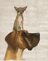 Great Dane and Chihuahua Fine-Art Print