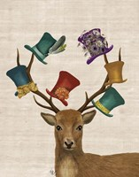 Hat Collector Deer Fine-Art Print