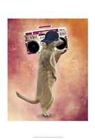 Meerkat and Boom Box Fine-Art Print