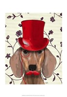 Dachshund With Red Top Hat Fine-Art Print