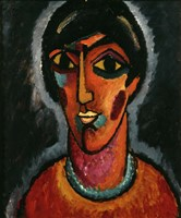 Byzantine Woman with Pale Lips, 1935 Fine-Art Print