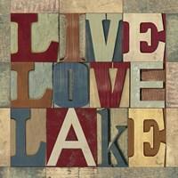 Lake Living Printer Blocks II Fine-Art Print
