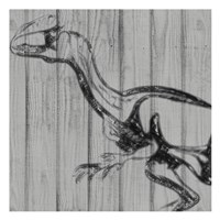 Dino On Wood II Fine-Art Print