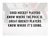 A Good Hockey Player Fine-Art Print