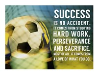 Success - soccer quote Fine-Art Print