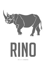 Rino Black Fine-Art Print