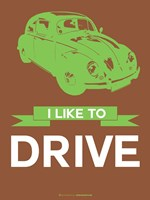 I Like to Drive Beetle 2 Fine-Art Print
