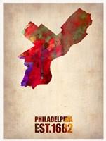 Philadelphia Watercolor Map Fine-Art Print