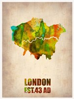 London Watercolor Map 1 Fine-Art Print