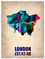 London Watercolor Map 2 Fine-Art Print
