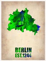 Berlin Watercolor Map Fine-Art Print