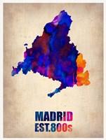 Madrid Watercolor Map Fine-Art Print