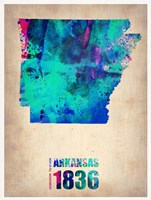 Arkansas Watercolor Map Fine-Art Print