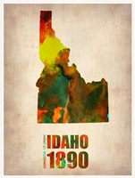 Idaho Watercolor Map Fine-Art Print