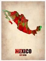 Mexico Watercolor Map Fine-Art Print