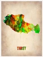 Tibet Watercolor Map Fine-Art Print