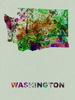 Washington Color Splatter Map Fine-Art Print