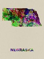 Nebraska Color Splatter Map Fine-Art Print