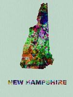 New Hampshire Color Splatter Map Fine-Art Print