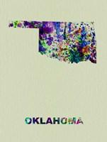 Oklahoma Color Splatter Map Fine-Art Print