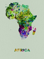 Africa Color Splatter Map Fine-Art Print