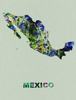 Mexico Color Splatter Map Fine-Art Print