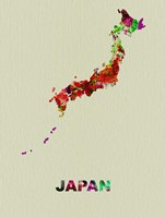 Japan Color Splatter Map Fine-Art Print
