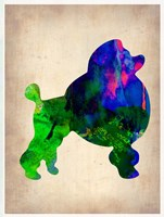 French Poodle Watercolor Fine-Art Print