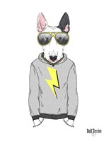 Bull Terrier in City Style Fine-Art Print