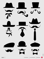 Hats and Mustaches 1 Fine-Art Print