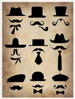 Hats Glasses and Mustaches Fine-Art Print