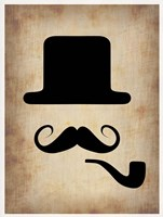 Hat Glasses and Mustache 4 Fine-Art Print