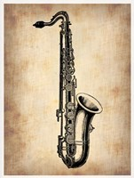 Vintage Saxophone Fine-Art Print