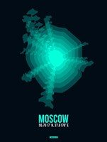Moscow Radiant Map 3 Fine-Art Print