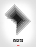 Washington DC Radiant Map 5 Fine-Art Print