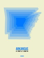 Arkansas Radiant Map 2 Fine-Art Print