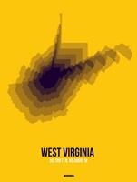 West Virginia Radiant Map 3 Fine-Art Print