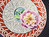 Flower on Plate I Fine-Art Print
