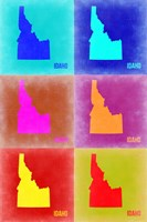 Idaho Pop Art Map 2 Fine-Art Print