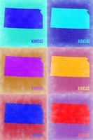 Kansas Pop Art Map 2 Fine-Art Print