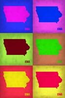 Iowa Pop Art Map 2 Fine-Art Print