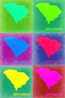 South Carolina Pop Art Map 2 Fine-Art Print