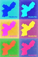 Philadelphia Pop Art Map 3 Fine-Art Print