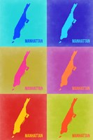 Manhattan Pop Art Map 3 Fine-Art Print