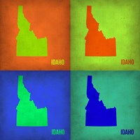 Idaho Pop Art Map 1 Fine-Art Print